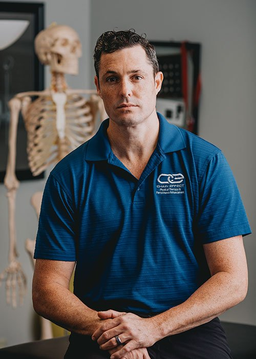 Dr. Taylor Pope owner of Chain Effect and one of the Doctors of Physical Therapy at Chain Effect